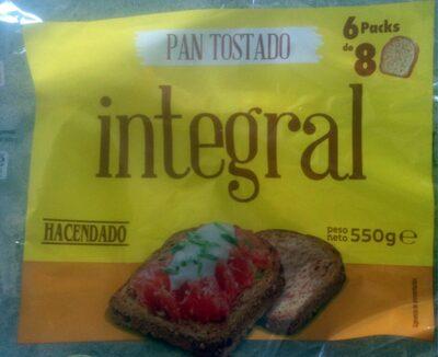 Pan Tostado Integral Hacendado 550 G